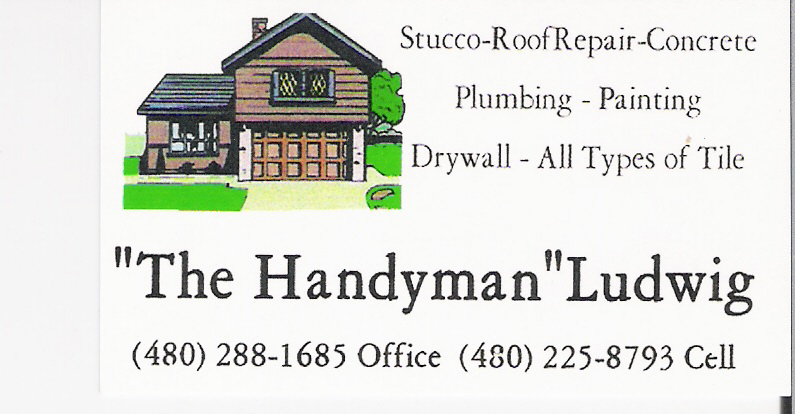 The Handyman Ludwig Stucco – Roof Repair – Concrete – Plumbing – Painting – Drywall – All types of Tile