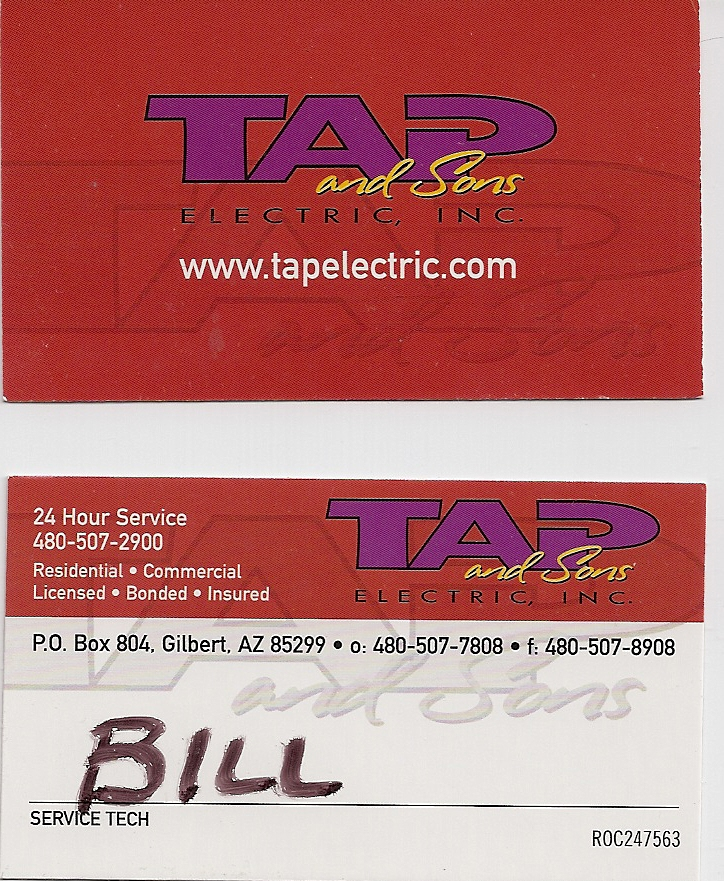 Tap and Sons Electric Inc. For electrical needs